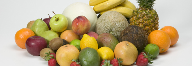 Fruits Like Apricots, Kiwi, Peaches, Plums And Mangoes